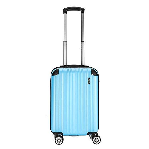 "Sunydeal - Maleta de Cabina Equipaje de Mano Rígida, Candado TSA, 20"", 54 x 34.5 x 23cm, 4 Ruedas multidireccional,Azul claro"