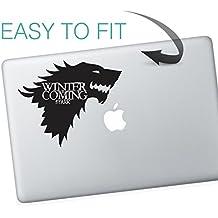 Pegatina de la Casa Stark de Juego de tronos para Macbook con el mensaje