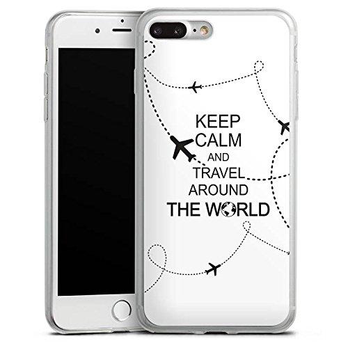 Apple iPhone X Slim Case Silikon Hülle Schutzhülle Reisen Travel Keep Calm Silikon Slim Case transparent