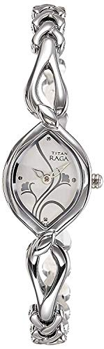 Titan Raga Analog White Dial Women's Watch -NK2455SM01