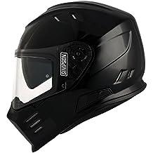 Simpson Venom casco, negro metálico, tamaño M