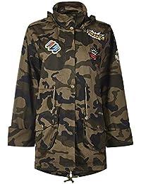 Wolfleague Manteau à Capuche Femme Manteau Waterproof Veste Camouflage  Oversize Coupe-Vent Blouson Chaud Tops 5c0dd5cd7e02