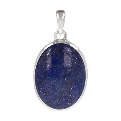 cadeau original femme-Pierres fines-Pendentif-Lapis Lazuli-Argent massif-Femme