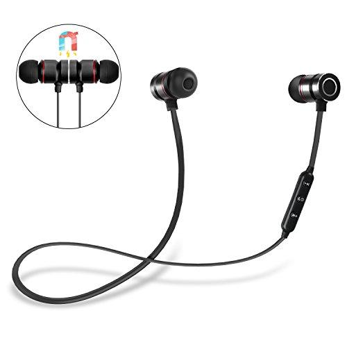 Auriculares Bluetooth, DIANJIE 4.1 Magnéticos In-ear Cascos Deportivos Inalámbricos con Mic,Auriculares a prueba de sudor IPX4,iOS Android Móviles Smartphones PC (Negro)
