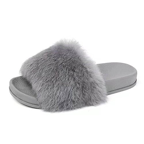 Hausschuhe Damen Plüsch Pantoffeln Rutschfester Warm Mädchen Hausschuh Hause Schuhe Pantoletten Weiche Sohle Bequem Flip Flop Sandalen