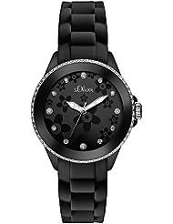 s.Oliver Damen-Armbanduhr XS Analog Quarz Silikon SO-2559-PQ