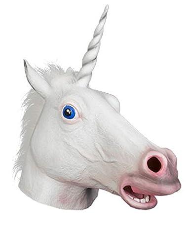 Masque Couleur Blanc Licorne Du Au