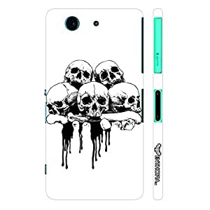 Sony Xperia Z3 Compact Skull 'N Bone designer mobile hard shell case by Enthopia