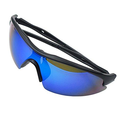 Outtag Sonnenbrille Fahrradbrille UV400 Schutz Unzerbrechliche Sportbrille Superleicht Radbrille für Herren und Damen