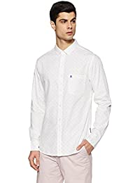 French Connection Men's Printed Slim Fit Casual Shirt
