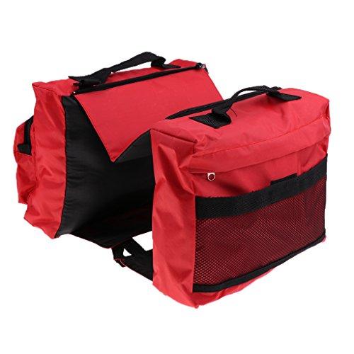 B Blesiya Hunderucksack Verstellbare Hundesatteltasche Hundegeschirrtasche Für Mittlere Und Große Hunde Outdoor Reisen Wandern Camping Training - Rot