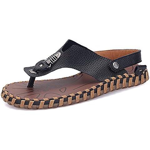 Nuove infradito uomo in estate/Sandali moda/Una parola pantofola/Pantofole denim