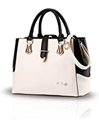 NICOLE&DORIS New Black And White Faishon Style Handbag Casual Shoulder Bag Cross-body Work Bag Purse For Ladies