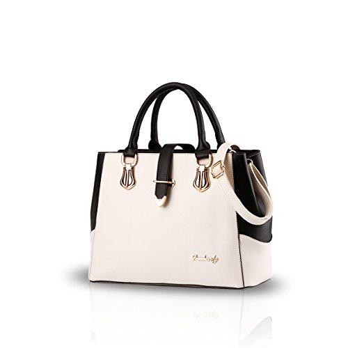 Nicole&Doris 2019 Handtaschen für Frauen Tasche Damen Tragetaschen für Damen Schultertaschen Cremeweiß