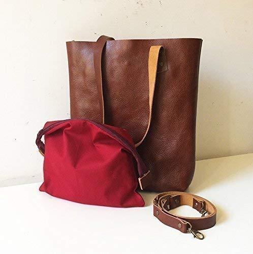 Italian leather tote bag, genuine leather bags women, made in italy, handmade handbags BBagdesign - handmade-bags