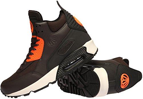 Paperplanes - 1339-Trendy-Grande avec rembourrage Sneakers'Air Marron - marron