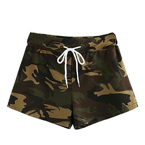Summer Fashion Womens Casual Hot Pants❤️❤️ Tefamore Newest Drawstring Waist Camo Shorts Trousers