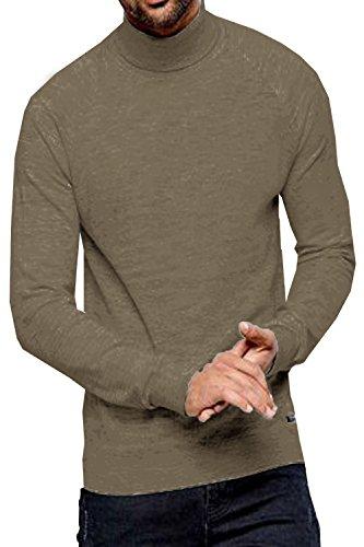 Threadbare Herren Logan Rollkragen Pullover Cinder Marl - Beige