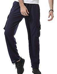 Herren Freizeithose Relaxhose Jogginghose Leicht Lang Sporthose Sweaterhose  Mit Seitentaschen Aus Soft Material 2481f55610
