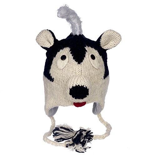 (Wintermütze Skunk, lustig, handgefertigt, Tiermütze mit Fleece-Futter, Unisex)