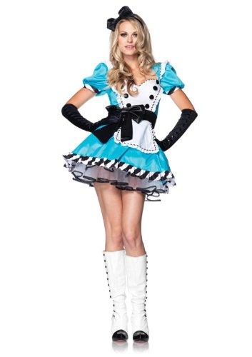 Leg Avenue 83773 - 2Tl. Charmante Alice Kostüm, S/M, Damen Karneval Fasching