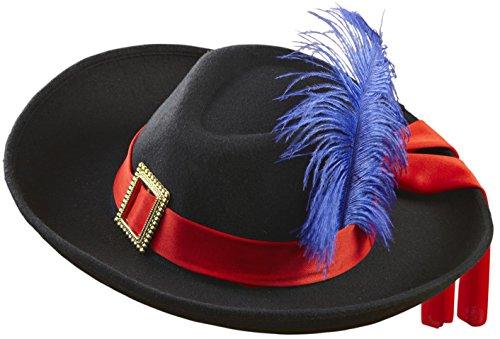 WIDMANN 0600W?Sombrero de mosquetero, de fieltro cepillado, talla única adulto