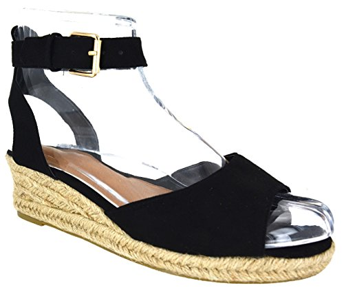 ladies-womens-low-heel-wedge-summer-sandals-buckle-strap-espadrillies-shoes-size