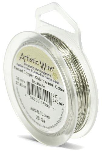 Artistic Wire Beadalon Fil résistant pour la fabrication de Calibre 26 27,43 m Fil cuivre étamé