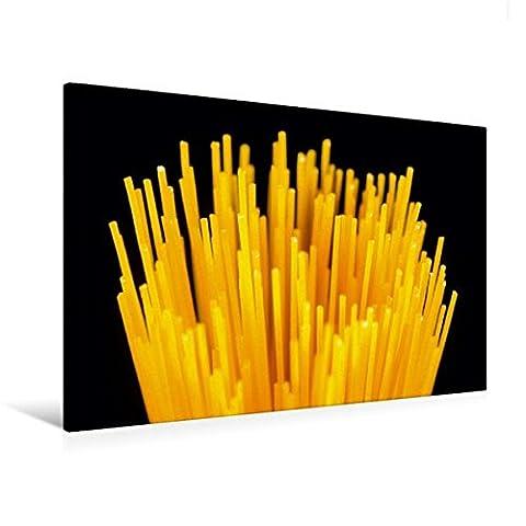 Premium Textil-Leinwand 120 cm x 80 cm quer, Ein Motiv aus dem Kalender Pasta | Wandbild, Bild auf Keilrahmen, Fertigbild auf echter Leinwand, Leinwanddruck (CALVENDO (Olivenöl Basilikum Pasta)