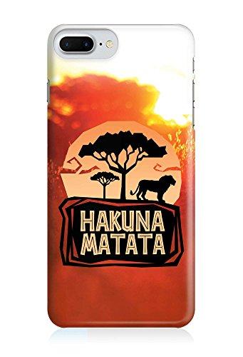 COVER Hakuna matata König der Löwen Steppe orange Design Handy Hülle Case 3D-Druck Top-Qualität kratzfest Apple iPhone 7 Plus