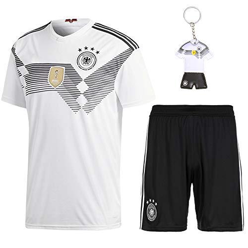QiMai Deutschland Fußball Trikots Kinder Fußball Trikot 2018 Weltmeisterschaft Germany 4 Sterne Fußball T-Shirt und Shorts Socken (XS)
