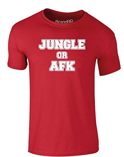 Jungle Or AFK, Erwachsene Gedrucktes T-Shirt - Rote/Weiß S = 89-94 cm -