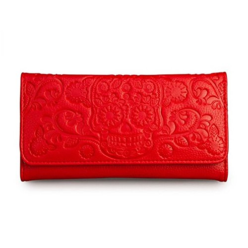 loun-geflyportefeuille-red-embossed-pour-femme-sugar-skull