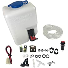 RUNMIND Kit de Bomba de Depósito Universal para Limpiaparabrisas de Coche (12 V, ...