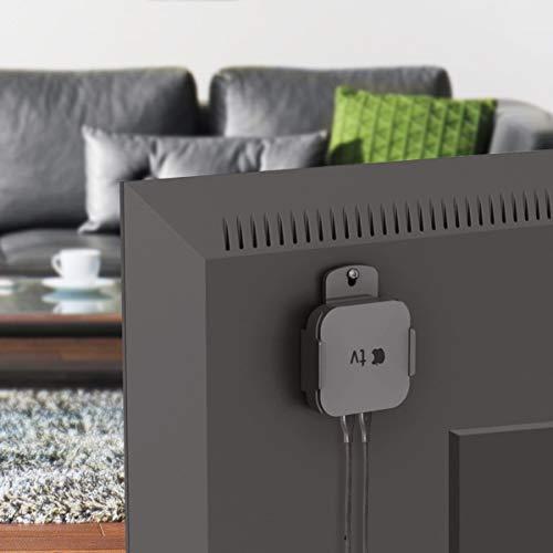 RICOO Smart TV Streaming Box Halterung APTV01 kompatibel mit Apple TV und Android IPTV Set-Top-Box Halter für Fernseher VESA oder Wandhalterung Schwarz Ip Office-modulen