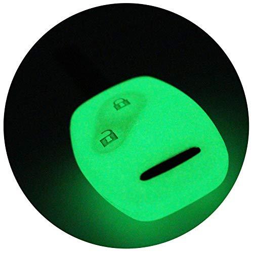 Schlüssel Hülle HA für 2 Tasten Auto Schlüssel Silikon Cover von Finest-Folia (Nachtleuchtend) (Honda Ridgeline Schlüssel Hülle)