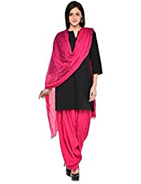 PI WORLD Women Black Cotton Solid Full Patiala Salwar & Dupatta Set Party Wear & Designer Salwar & Duppatta Set