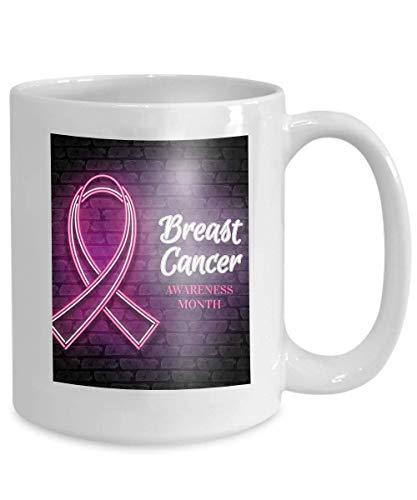 Tasse Kaffee Tee Tasse Brustkrebs-Bewusstseinsmonat Emblem Pink Ribbon Symbol Brustkrebs-Bewusstseinsmonat