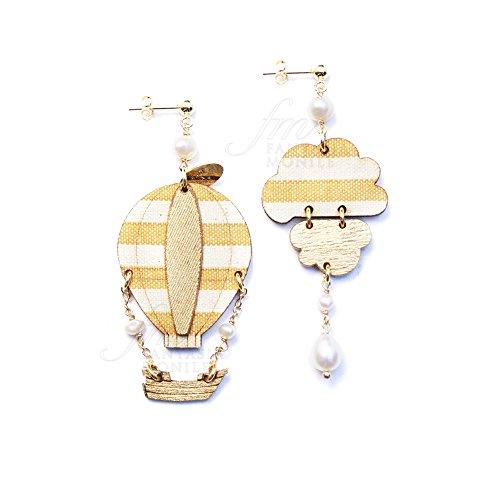 Ohrringe LEBOLE Schmuck Fliegen Ballon Seide Vintage italienische Perle 6yc5zfm (Linie Seide Fliege)