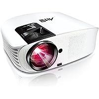 Videoprojecteur Full HD, Artlii Projecteur HD Portable, Supporte Le 1080p, 3D, Compatible Clé USB, iPhone, PC, Laptop Regarder Football, NBA, Roland Garros
