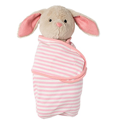 Manhattan Toy- Swaddle Baby Bunny Manta, Color Pink/Brown/Black/White (154850)