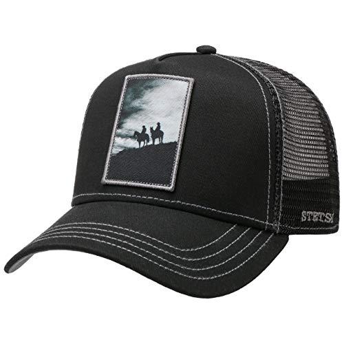Imagen de stetson  trucker silhouette horses hombre  de baseball malla beisbol snapback, con visera primavera/verano  talla única negro
