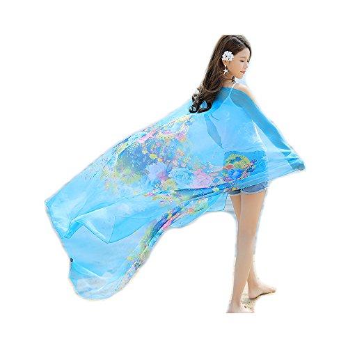 Felix & SiLK Damen Mädchen Blume Extra Groß Strandkleider Sarong Pareo Schals Wrap Stolen Umschlagtücher UV-Sonnenschutz Feiertage Strand