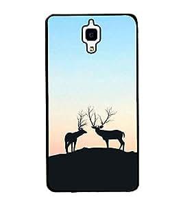Deers on a Hill 2D Hard Polycarbonate Designer Back Case Cover for Xiaomi Redmi Mi 4 :: Redmi Mi 4