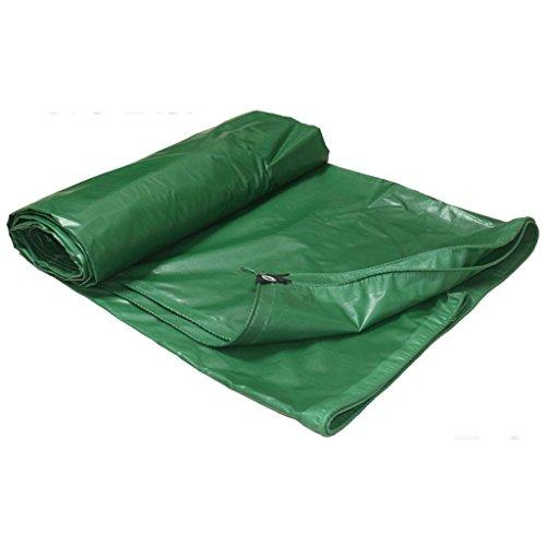 Hongyan Impermeabile resistente alle alte temperature e facile da piegare all'aperto - 450 g/m2, verde, spessore 0,38 mm, 9 taglie disponibili (misura personalizzata) (dimensioni : 5 x 6m)