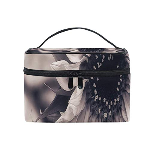 Tragbare hängende Make-up Kosmetiktasche Tasche,Makeup Bag Sunflower Tattoo Cosmetic Bag Portable Large Toiletry Bag for Women/Girls Travel -