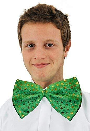 St Patricks Tag Irisch Kostüm Riese grün Fliege mit Gold Kleeblätter (Grüne Riesen Kostüme)