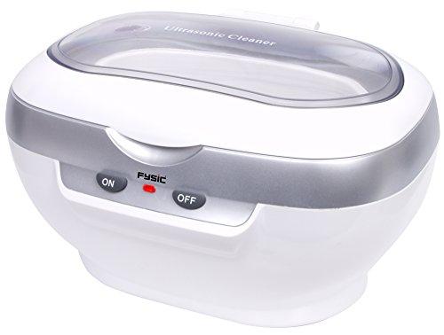 Fysic FC-33 Ultraschallreinigungsgerät mit herausnehmbarem Korb besonders gründliche und hygienische Reinigung in 3 Minuten, 600 ml Fassungsvermögen