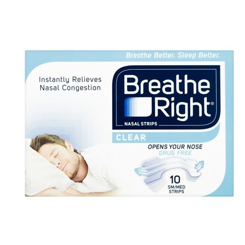 Breath Right Nasal Strips Clear Regular 10 Pack -
