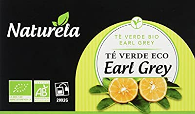 Naturela Thé Vert Earl Grey Bio 40 g - Lot de 6